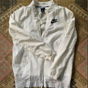 White Nike Windbreaker